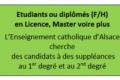 L'Enseignement catholique d'Alsace recrute des suppléants